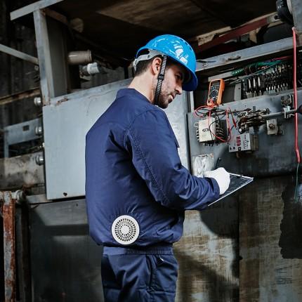 Áo điều hoà Nhật Bản chính hãng KITO, Pin Nhật Lithium Phiếu BH 1 Năm - Xanh than