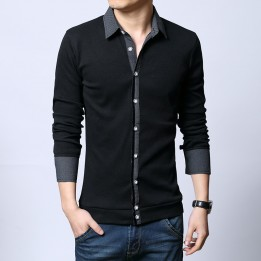 Áo len cách điệu cổ tay áo sơ mi AL01