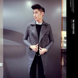Áo khoác măng tô chất dạ cao cấp Hàn Quốc phong cách trẻ  AK039