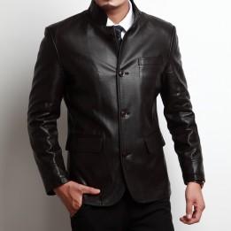 Áo khoác da cừu cao cấp phong cách quý ông AK063