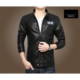 Áo khoác da jacket lót nỉ AK068
