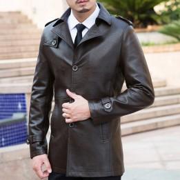 Áo khoác da cừu thật phong cách quý ông AK074