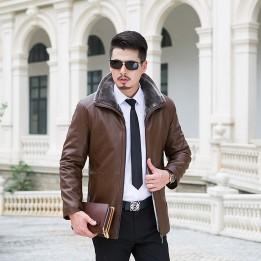 Áo khoác da lông kinh doanh cao cấp AK076