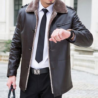 Áo khoác da lông cừu thượng lưu AK084