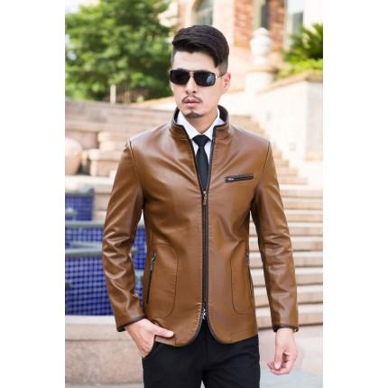 Áo khoác da cừu phong cách quý ông AK085