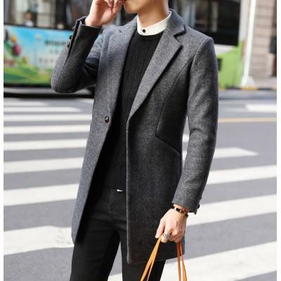 Áo măng tô dạ cao cấp phong cách Hàn Quốc AL092