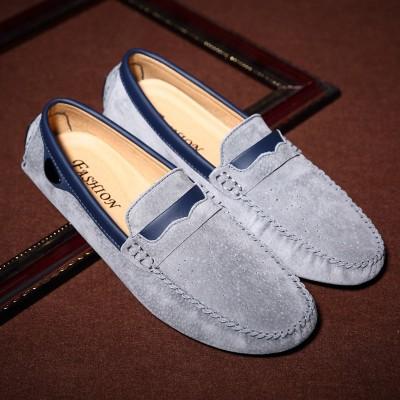 Giày lười da bò lộn siêu đẹp GD494