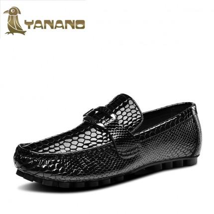 Giày lười da bò vân cá sấu quý ông GD100