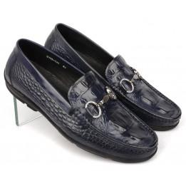 Giày lười nam da bò vân cá sấu GD126