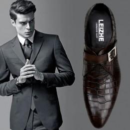 Giày da bò vân cá sấu doanh nhân GD146