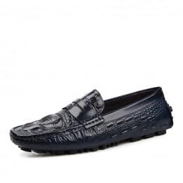 Giày da vân cá sâu cao cấp GD162