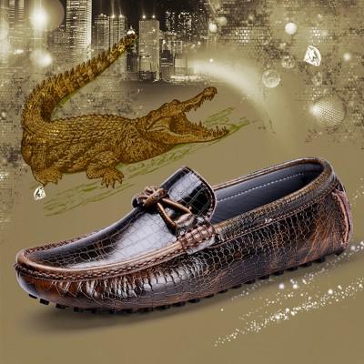 Giày lười vân cá sấu GD199