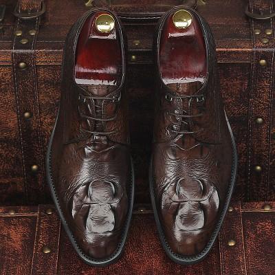 Giày kinh doanh quý ông vân cá sấu GD239