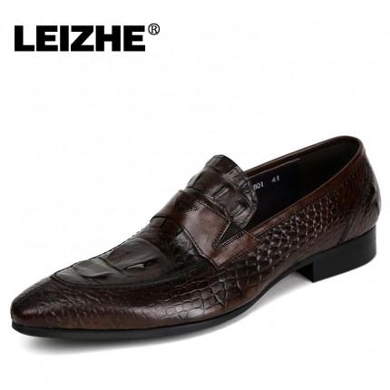 Giày kinh doanh quý ông vân cá sấu GD242