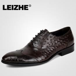 Giày kinh doanh quý ông vân cá sấu GD244