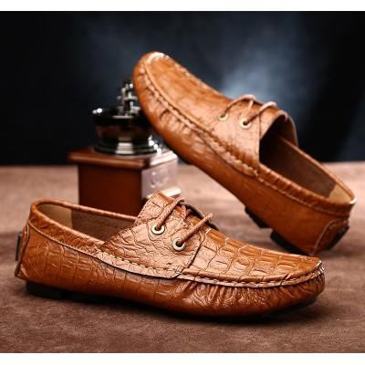 Giày lười da thật vân cá sấu GD267