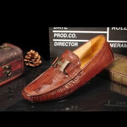 Giày lười da thật vân cá sấu GD268