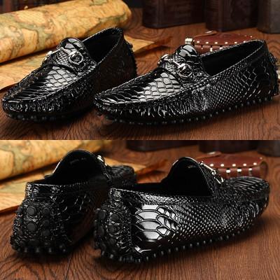 Giày lười da thật vân cá sấu GD269