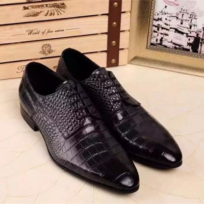 Giày công sở da bò dây buộc phong cách Anh GD300