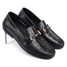 Giày lười phong cách da bò vân cá sấu cao cấp Hàn Quốc GD308