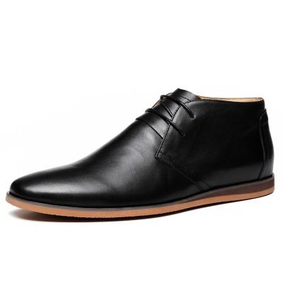 Giày da thật công sở dây buộc cao cổ GD320