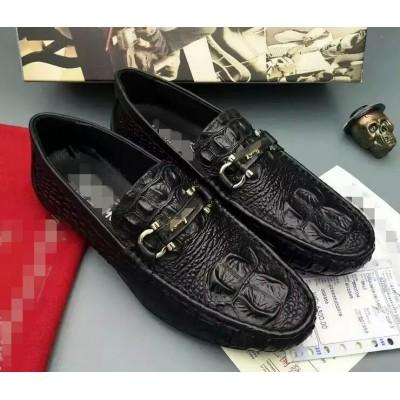 Giày lười vân cá sấu phong cách quý ông GD340