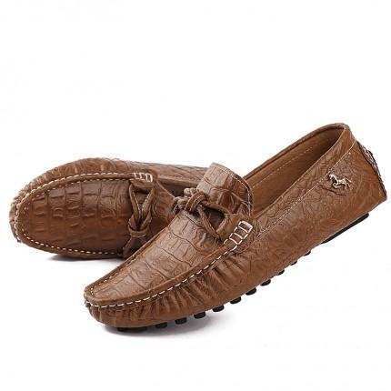 Giày lười  Peas vân cá sấu phong cách thượng lưu GD341