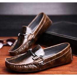 Giày lười da thật Peas phong cách HQ GD352