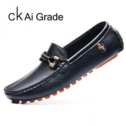 Giày lười da thật Hàn Quốc mới 2016 GD362