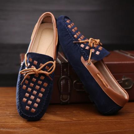 Giày lười da thật phong cách mới GD382