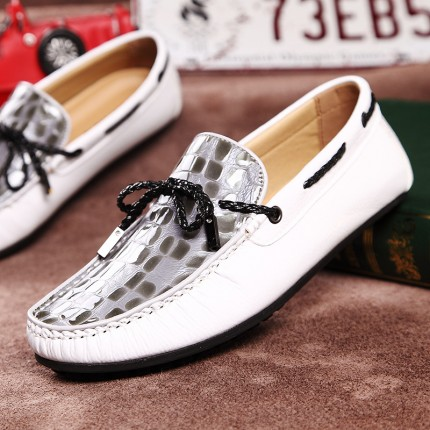 Giày lười da thật Peas phong cách GD387
