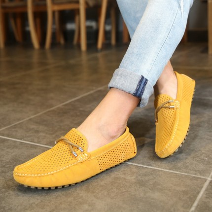Giày lười thoáng khí 100% da thật GD389