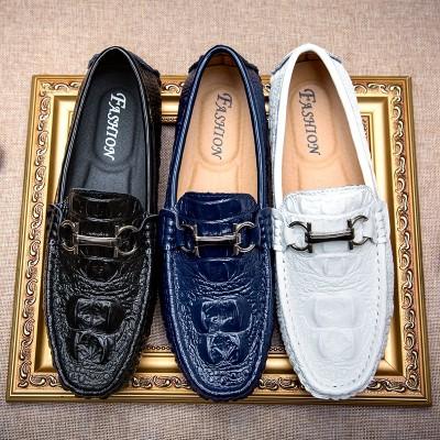 Giày lười da thật phong cách quý ông GD410