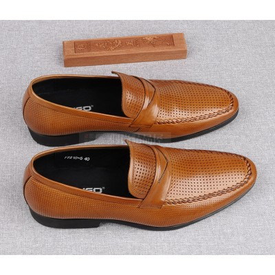 Giày da nam thoáng khí phong cách quý ông cao cấp GD414