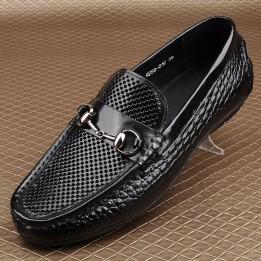 Giày lười nam da bò thoáng khí phong cách châu Âu GD415