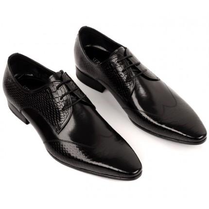 Giày da nam đẹp quý ông dập vân nổi cao cấp GD418