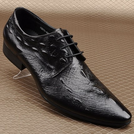 Giày cá sấu nam da bò quý ông GD420