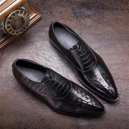 Giày cá sấu nam phong cách Anh GD424