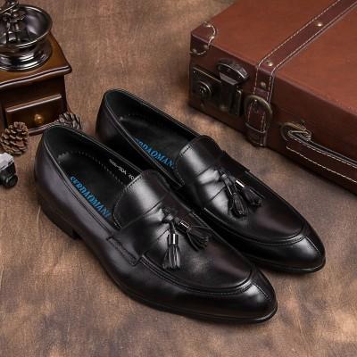 Giày lười da bò lịch lãm cao cấp phong cách mới GD434