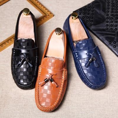 Giày lười chuông da bò cao cấp GD563