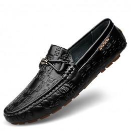 Giày lười da bò cao cấp phong cách sang trọng GD568