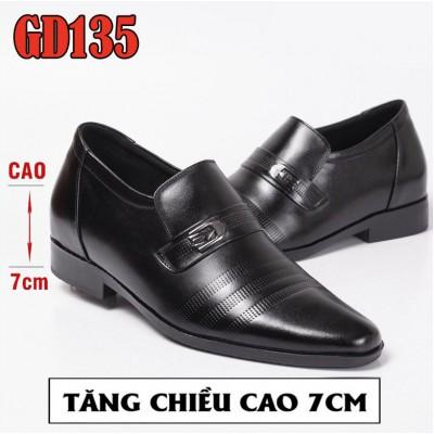 Giày nam tăng chiều cao 7cm, 100% da bò lịch lãm quý ông BH 1 năm GD135