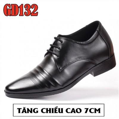 Giày nam tăng chiều cao 7cm, 100% da bò lịch lãm quý ông BH 1 năm GD132