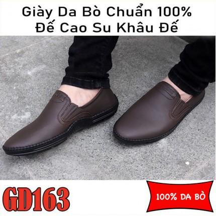 Giày lười nam 100$ da bò cao cấp, BH 1 năm GD163