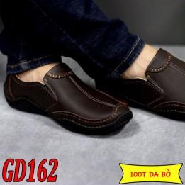 Giày lười nam da bò cao cấp phong cách trẻ, BH 1 năm GD162