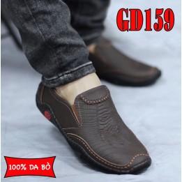 Giày lười nam da bò cao cấp phong cách trẻ, BH 1 năm GD159