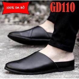 Giày lười nam 100% da bò cao cấp, đế đúc cao su bền chắc, BH 1 năm GD110