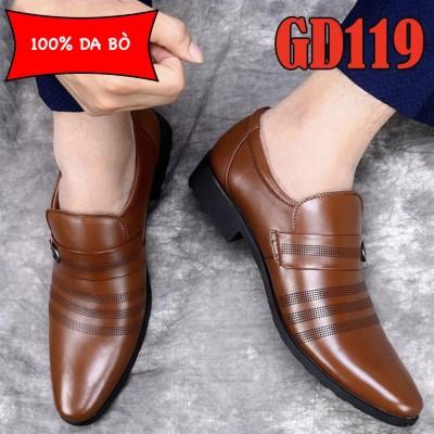 Giày công sở 100% da bò cao cấp trẻ trung, BH 1 năm GD119