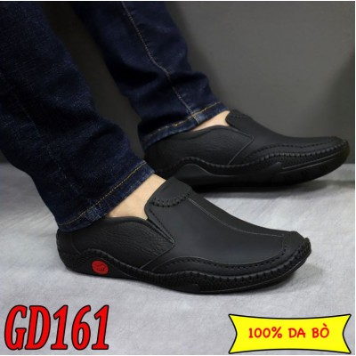 Giày lười nam da bò cao cấp phong cách trẻ, BH 1 năm GD161