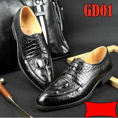 Giày công sở 100% da bò vân cá sấu cao cấp, BH 1 năm GD01